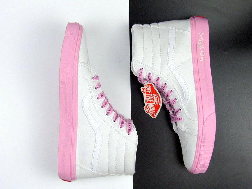 100% autentyczności wykwintny styl Najlepsze miejsce Anti Social Social Club X Vans X DSM ASSC SK8 Hi White Pink ...