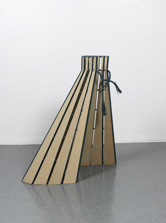 Diane Simpson - Box Pleats, 1989.  116.8 x 106.6 x 50.8 cm