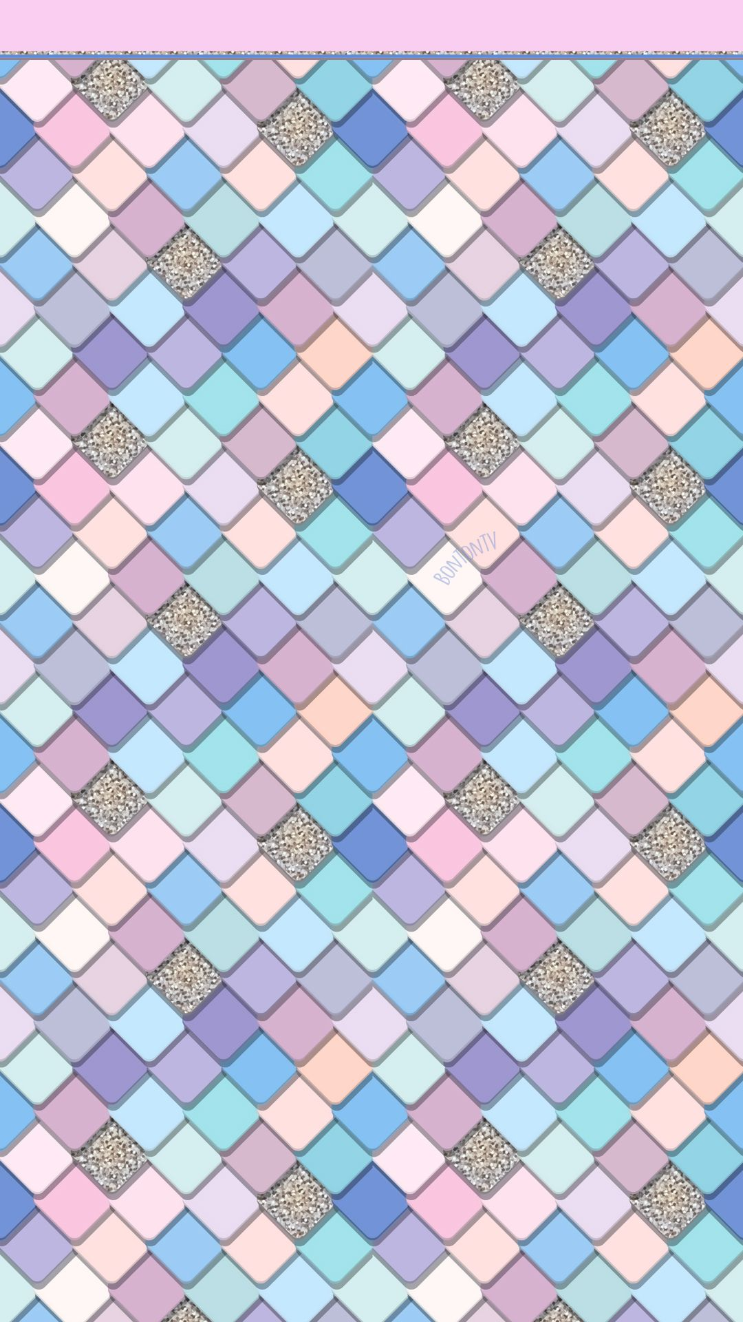 Phone Wallpapers Hd Colorful Pastel Mermaid Tiles By