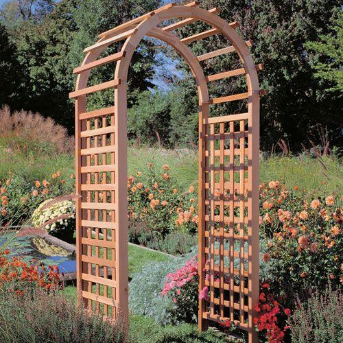 Western Red Cedar Garden Arch Arbor Rockler Com 337 99 Garden