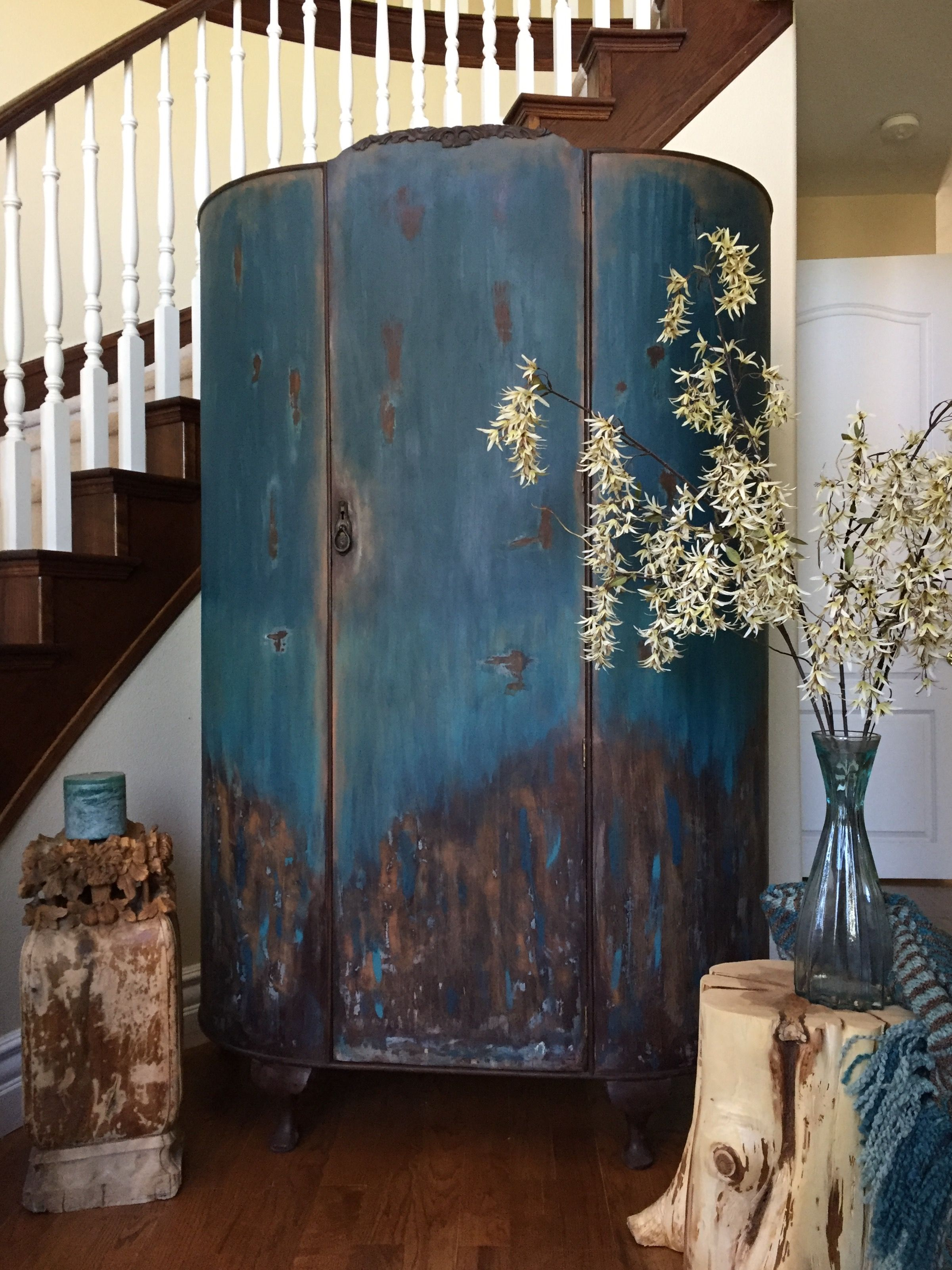 Antique Armoire Chalk Painted Into This