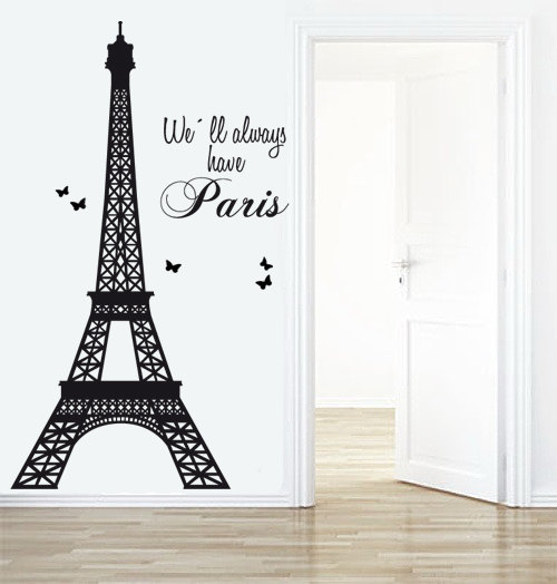 Eiffel Tower Decal   Paris Decals  Livingroom Wall Decal   Decals Paris   Wall  Stickers