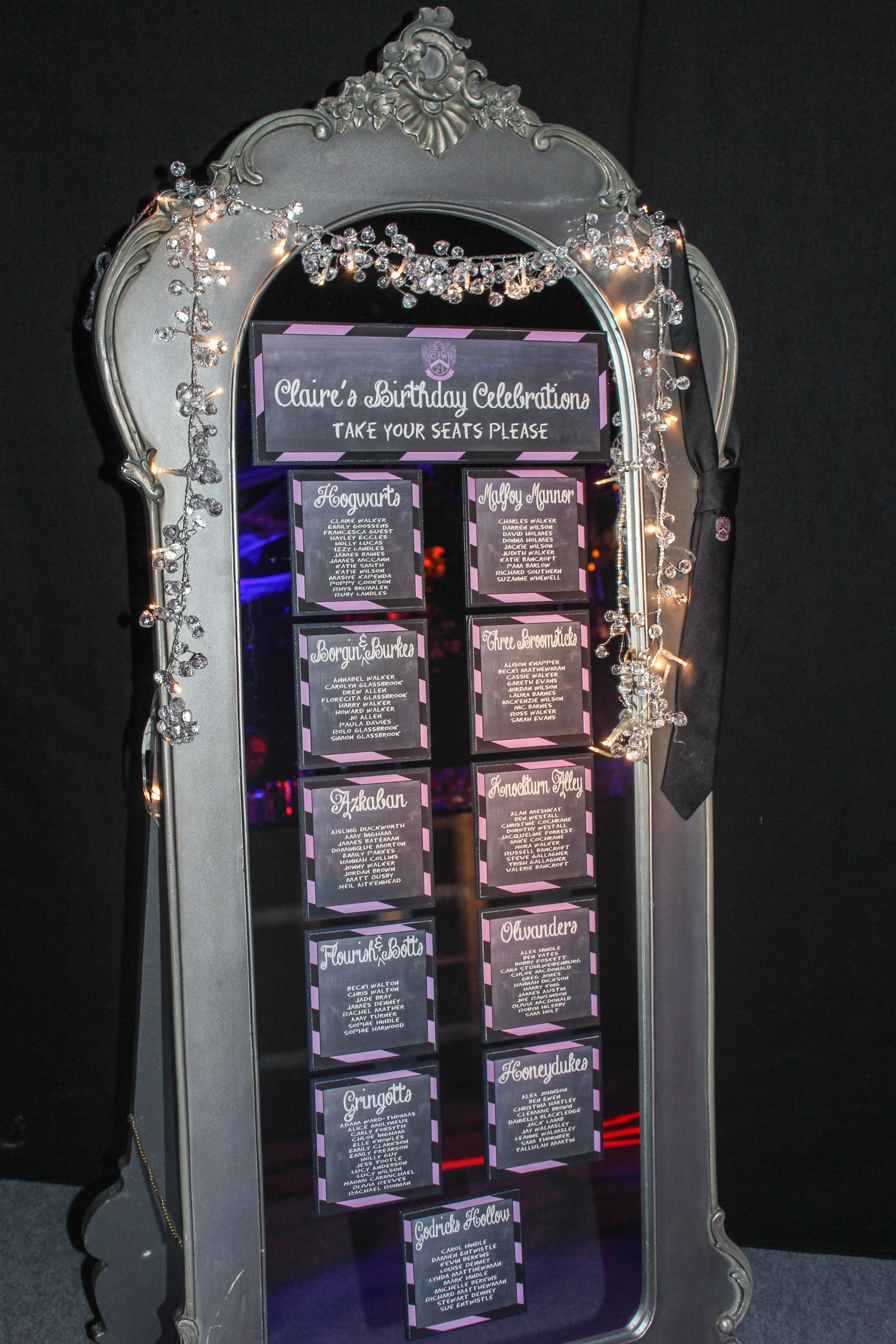 Elegant mirrored wedding or event table plan designed to fit your ...