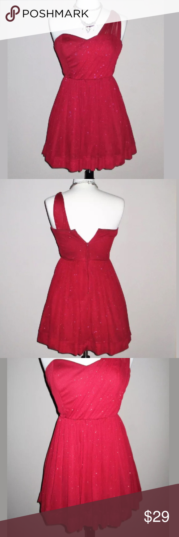 Sold teeze me red homecoming prom dress red tulle skirt