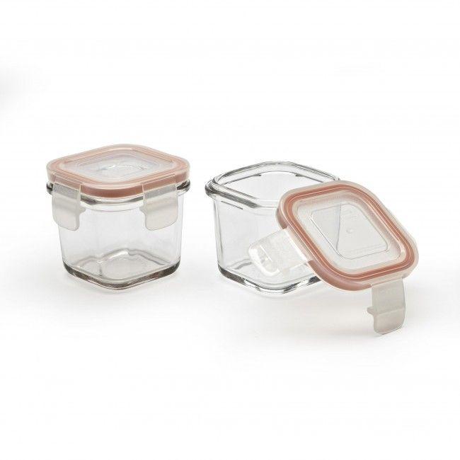 Glasslock Baby 120ml Glass Storage Cubes Set of 2 Storage cubes