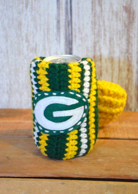 Handmade crocheted Green Bay Packers Inspired Green Yellow White ...