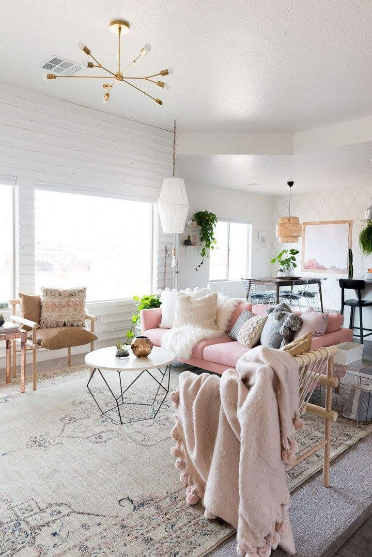 80 Awesome Scandinavian Style Living Room Decor Design Ideas Pink Living Room Decor Minimalist Living Room Living Room Scandinavian