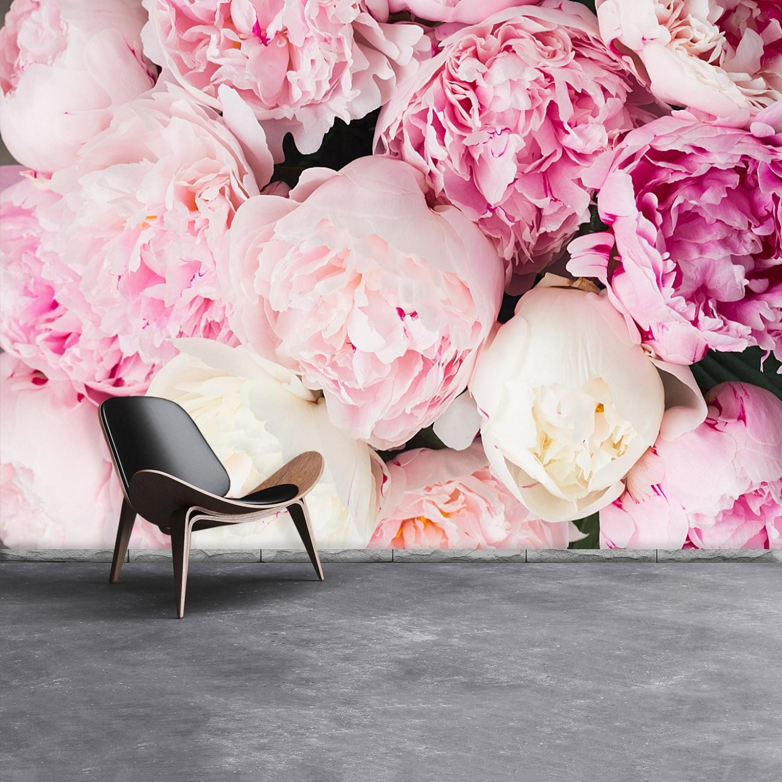 Peonies Pink Peel And Stick Or Classic Glue Photo Wallpaper Etsy Pink Floral Background Floral Background Pink Peonies