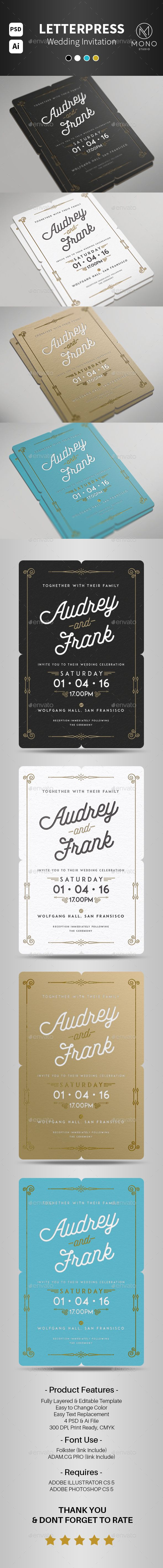 business meeting invitation email template%0A Letterpress Wedding Invitation