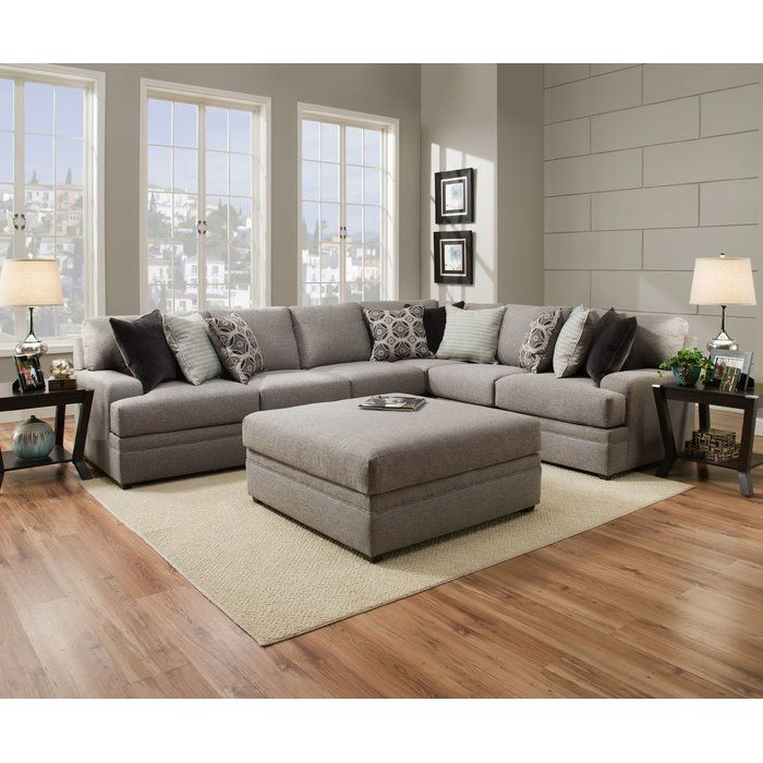 Mervin Briar Simmons Upholstery Sectional is part of Sectional Living Room Floor Plans - This Sectional features beauty rest pocketed coils in the seating for enhanced comfort, low profile arm design, reversible seat cushions and accented with nine toss pillows