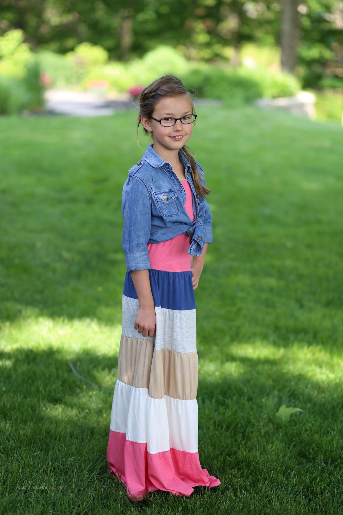 Madison Girls Maxi Dress | Long Modest Dress Sizes 5-10 | Girl's ...