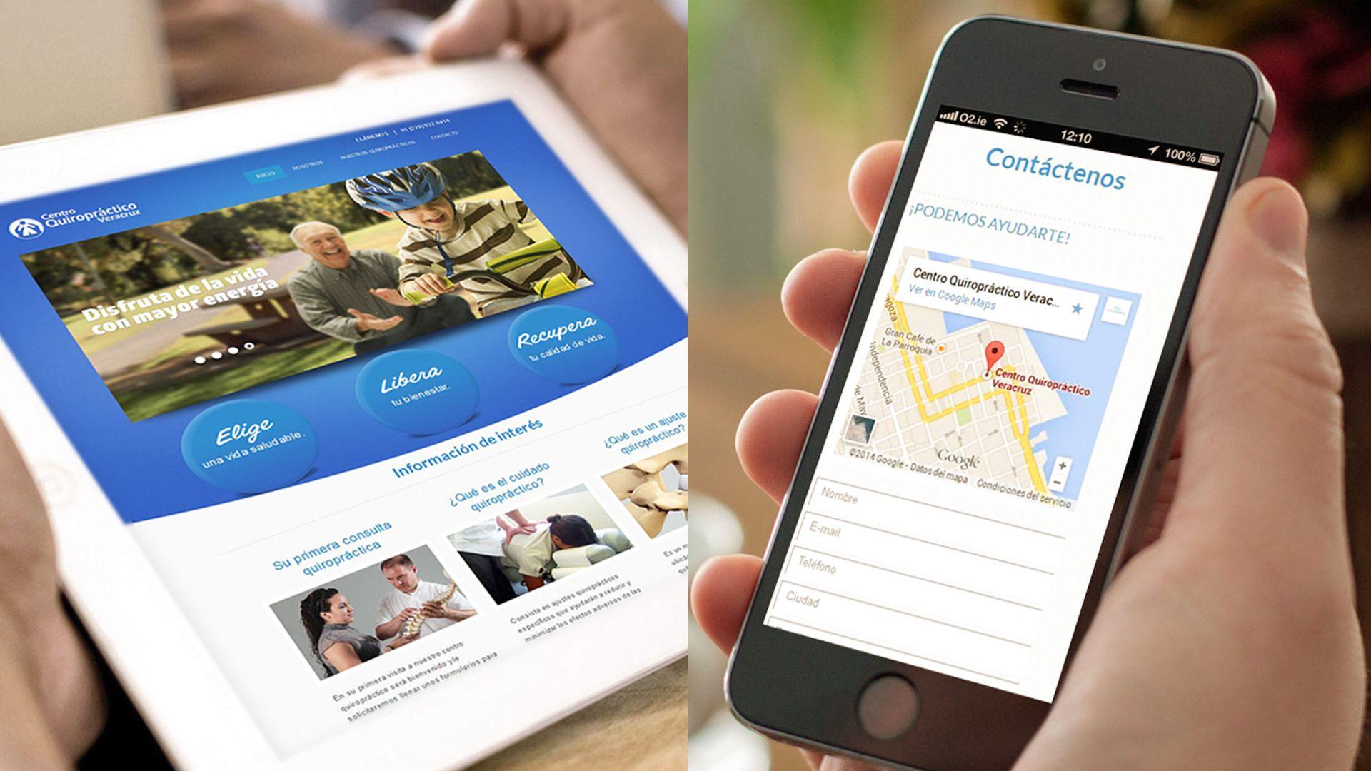 4f49daafc43ba Diseño de página web para Centro Quiropráctico Veracruz. Haz que tus  clientes te encuentren en