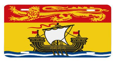 New Brunswick Canada Flag License Plate Metal Wall By Blingsity