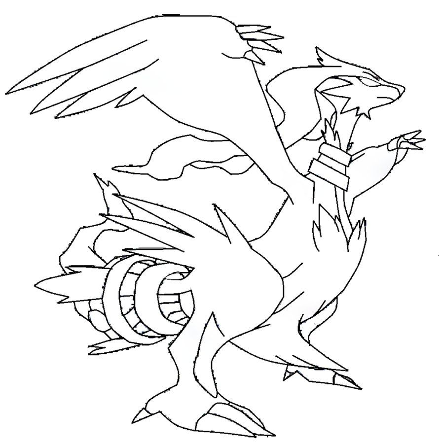 Reshiram Template Lineart By Shadowxmephiles On Deviantart With