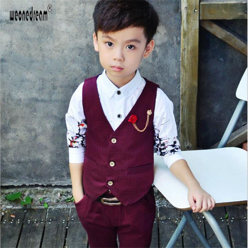 New Boys Vest Suit Outfit 4 Pc Wedding Party Holidays Baptism Baby Toddler Kids
