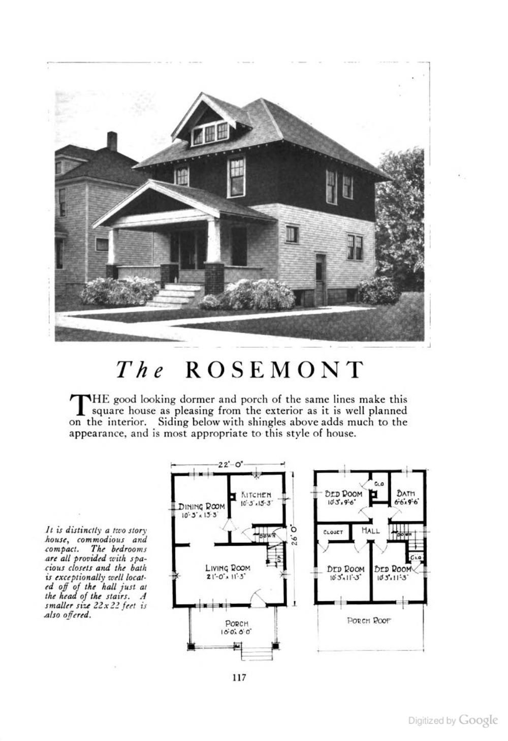 The Rosemont (an American Foursquare kit house/house plan ...