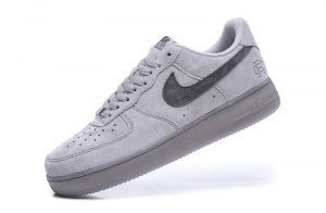 Mens Womens Nike Air Force1 x Reigning Champ Classic Gray Ash AA1117 118  Casual Shoes Sneakers e179ca690