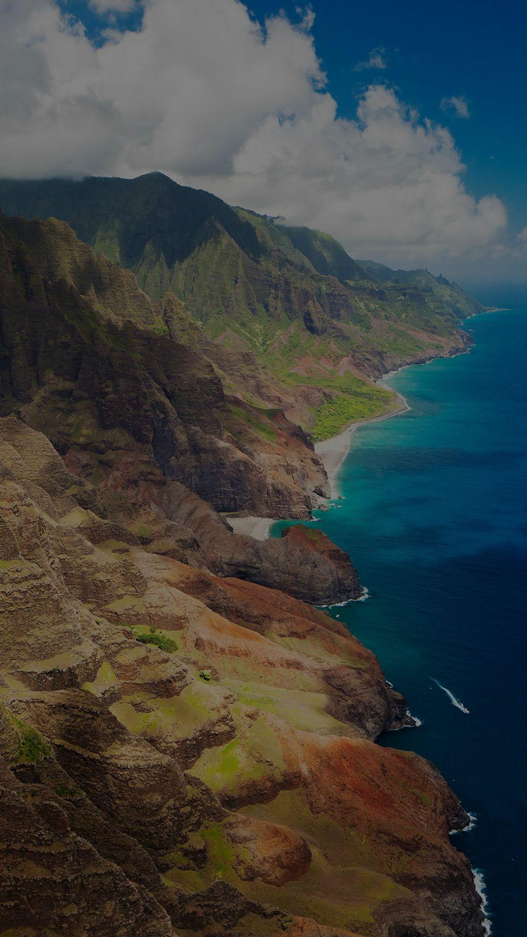 Sea Side View Mountain Nature Dark iPhone 6 plus