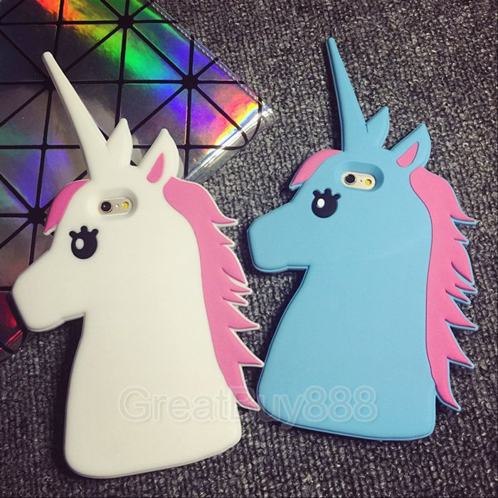 Cover Soft Silicone Unicorn Cartoon 3D