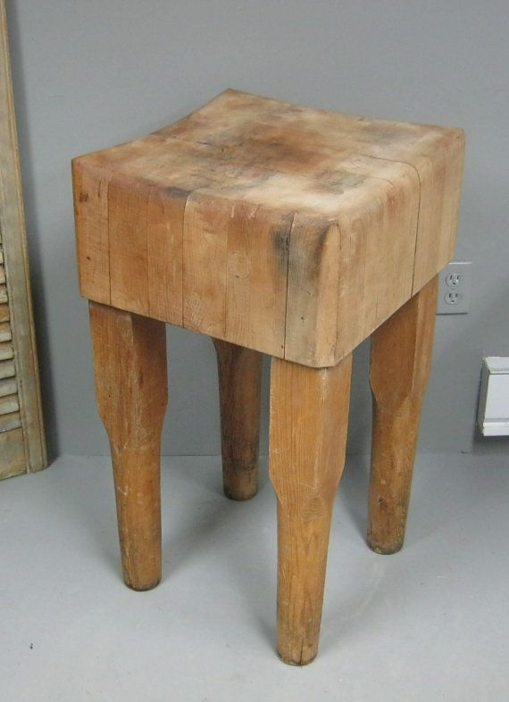 Vintage Butcher Block Table By Stonehousevintage On 375 00