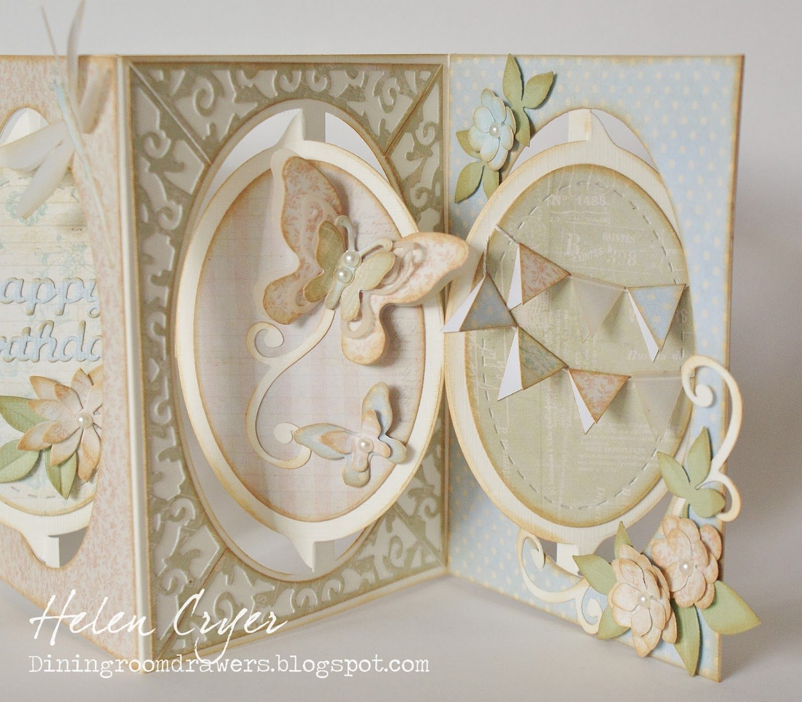 The Dining Room Drawers Oval Accordion Album Soft Pastel Birthday