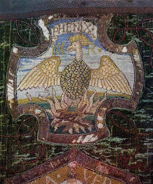 Cross Stitch By Mary Queen Of Scots Of A Phoenix A Symbol Used By