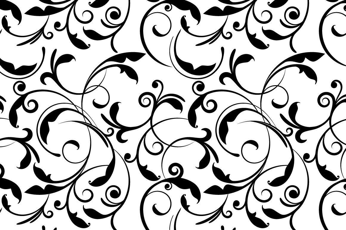 Black And White Floral Swirl Pattern White Flower Wallpaper Black And White Background Background Patterns