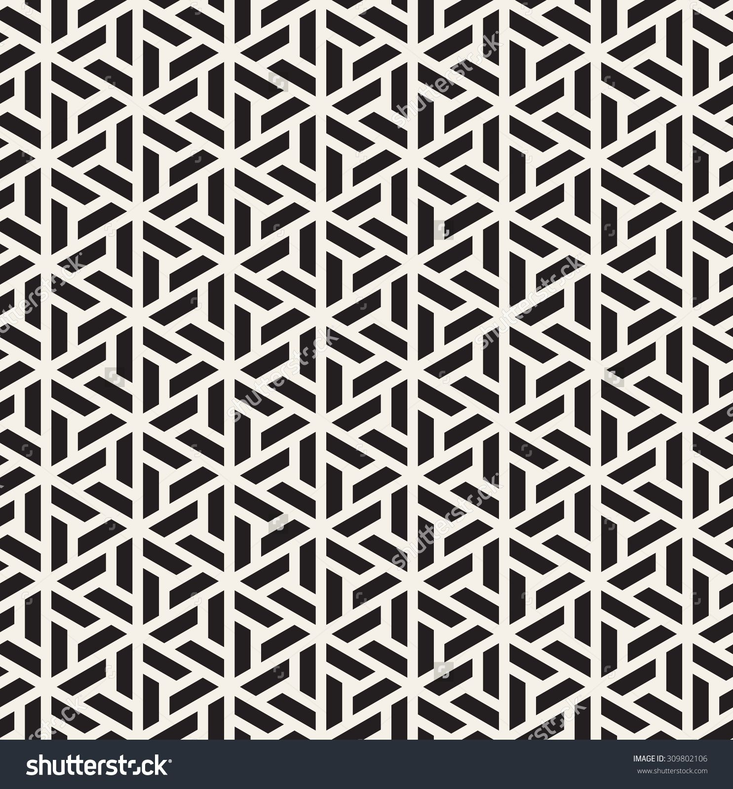 Vector Seamless Pattern. Modern Stylish Linear Texture