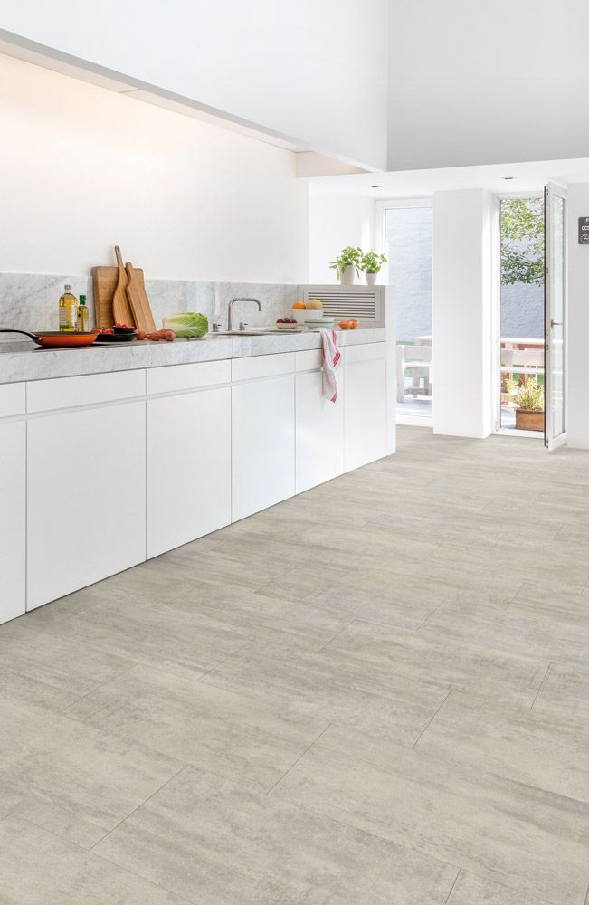 Quickstep Livyn Ambient Light Grey Travertine Floor Pinterest