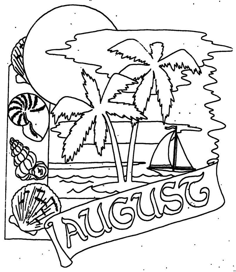 Ausmalbilder August Kostenlos Summer Coloriage Bts Photography Ausmalbilder Ausmalen Ausmalbilder Sommer