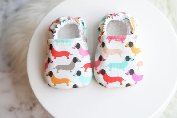 6 12 Months Dachshund Baby Shoes Dog Baby Shoe Dachshund Dachshund Baby Clothes Baby Bootie Bab Boy Shoes Baby Girl Shoes Baby Dachshund