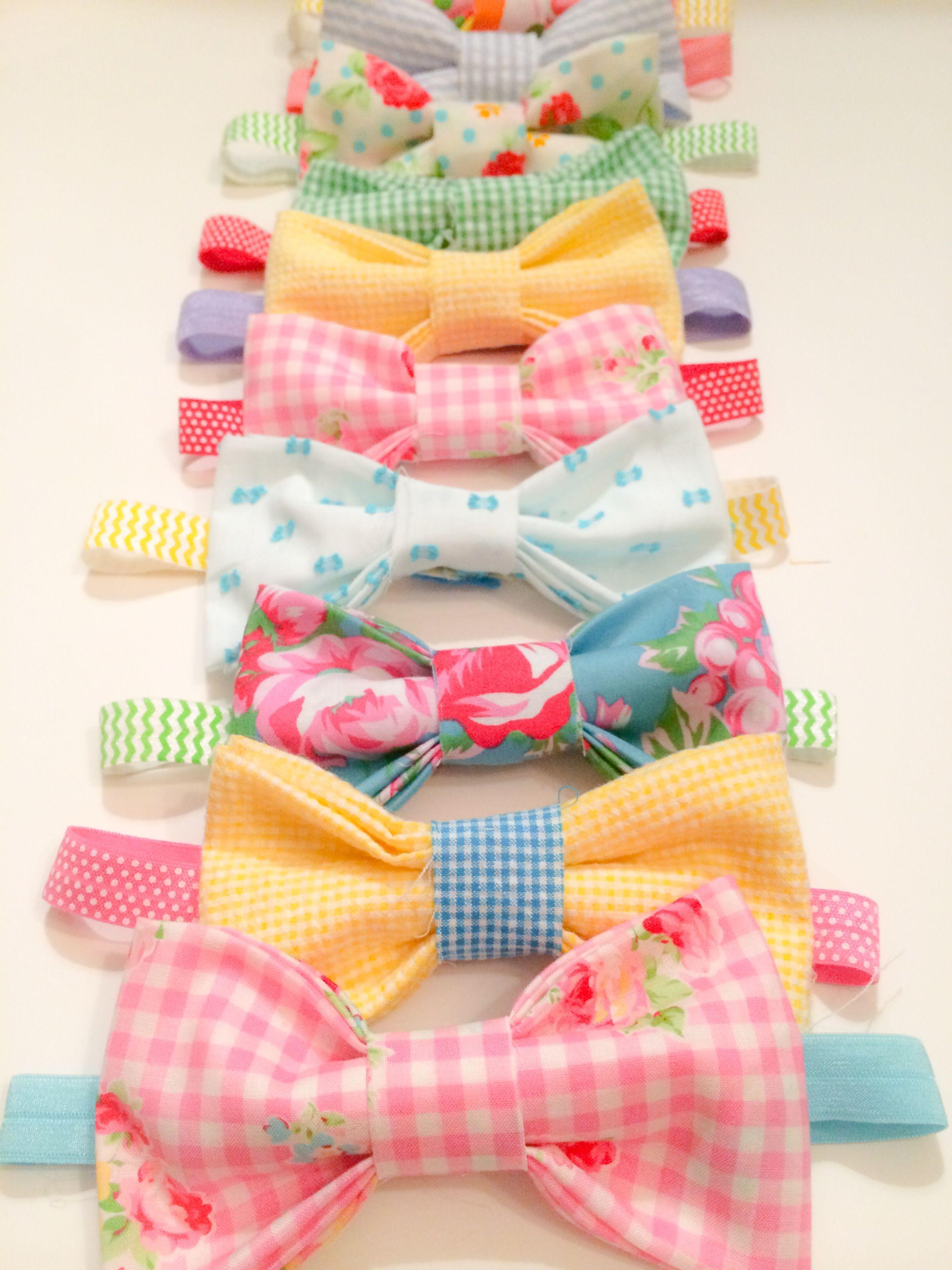 2846921f5fb6 Runaway Pony s Carolina Bow Headbands in Assorted Colors Bow Headbands