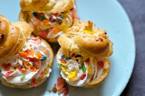Cereal And Milk Cream Puffs
