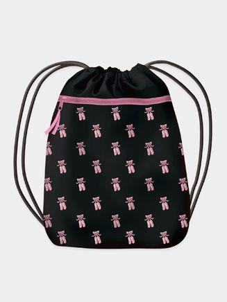 Ballet Shoes Drawstring Backpack Dance Bag Luggage Fiber Book