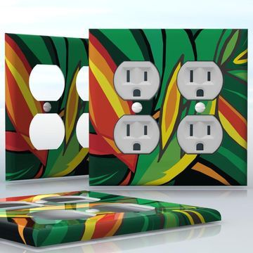 Groovy Diy 2 Gang Wall Socket Duplex Receptacle Decal Skin Wrap Home Remodeling Inspirations Basidirectenergyitoicom