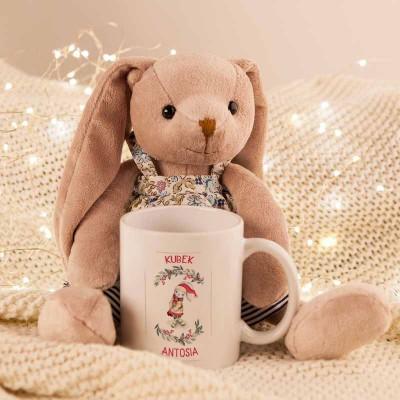 Prezent Swiateczny Dla Dziecka Maskotka Kubek Z Imieniem Zajac Teddy Teddy Bear Animals