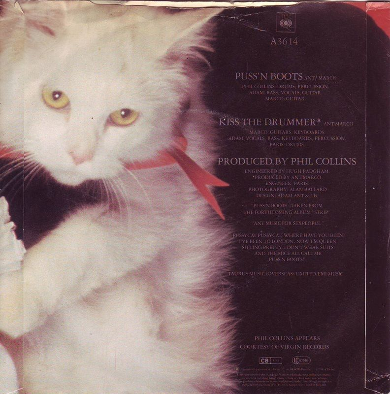 Puss n boots back cover of the lp