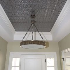 Tin Ceiling With Thick Crown Molding