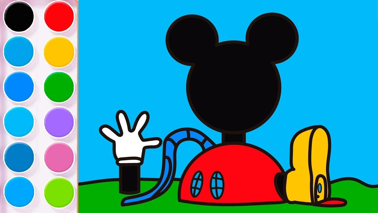 How To Draw The Mickey Mouse House Learntodraw Minnie Mouse Drawing Mickey Mickey Mouse House