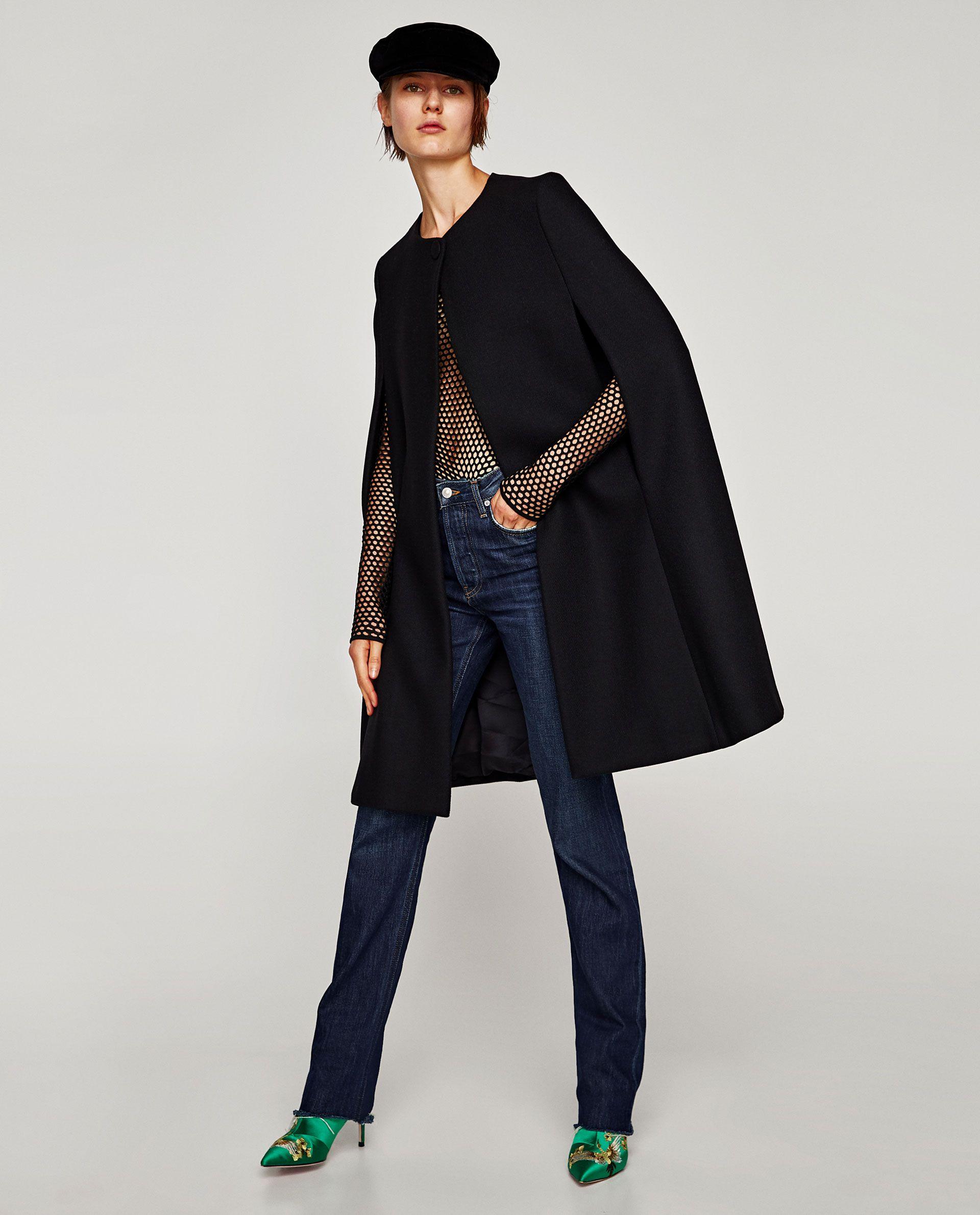 Manteau cape femme zara 2018