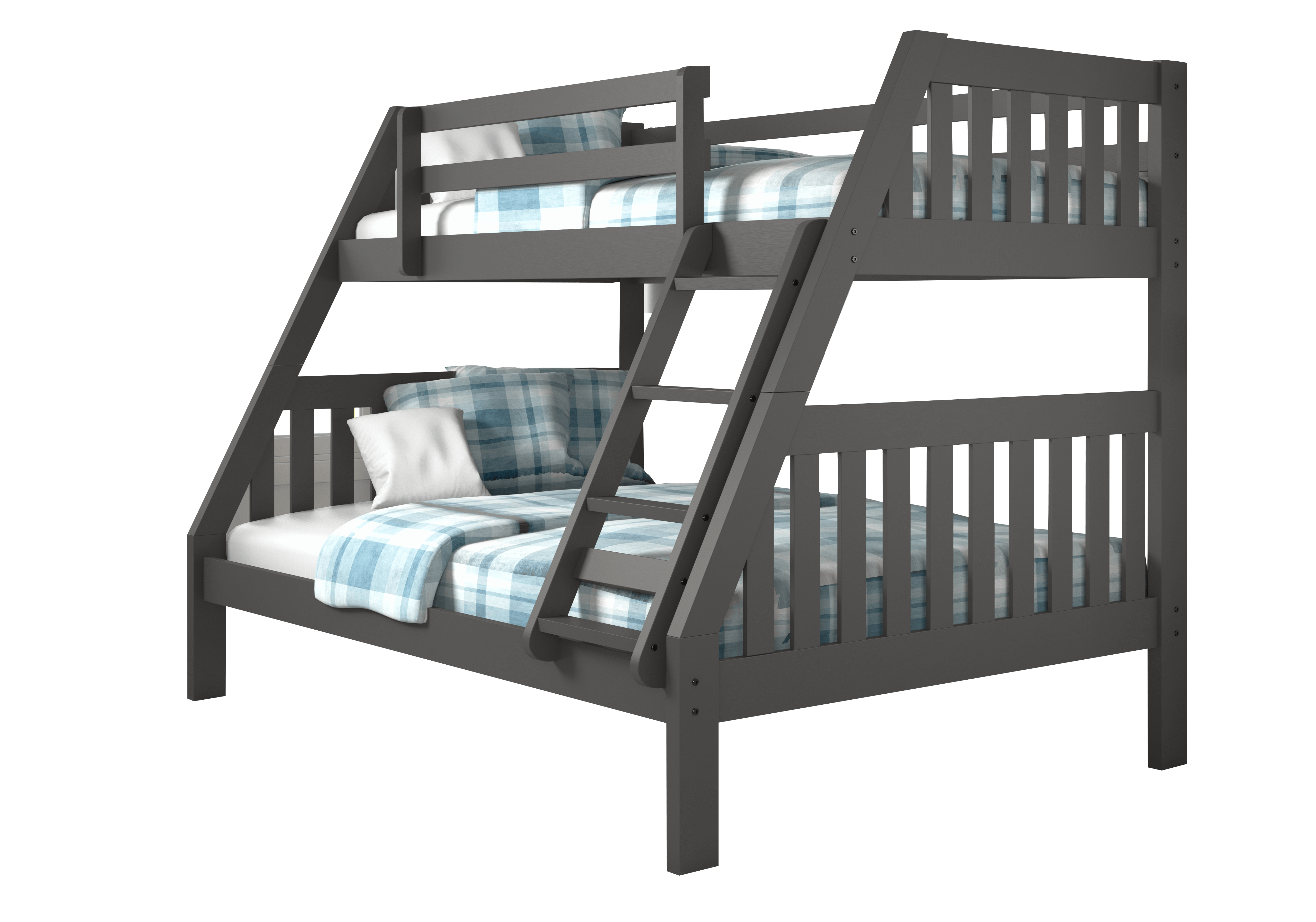 Best Lila Modern Grey Bunk Bed With Trundle In 2019 Grey Bunk 400 x 300