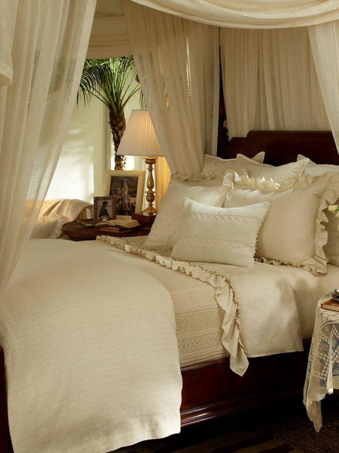 Himmelbett weiß romantisch  66 Schlafzimmergestaltung Ideen für Ihren gesunden Schlaf mit Stil ...