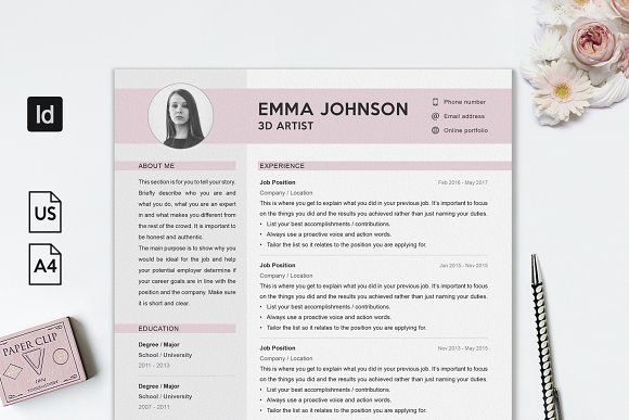 Professional Resume Template by Resume Refresh on @creativemarket - Job Resume Format Download
