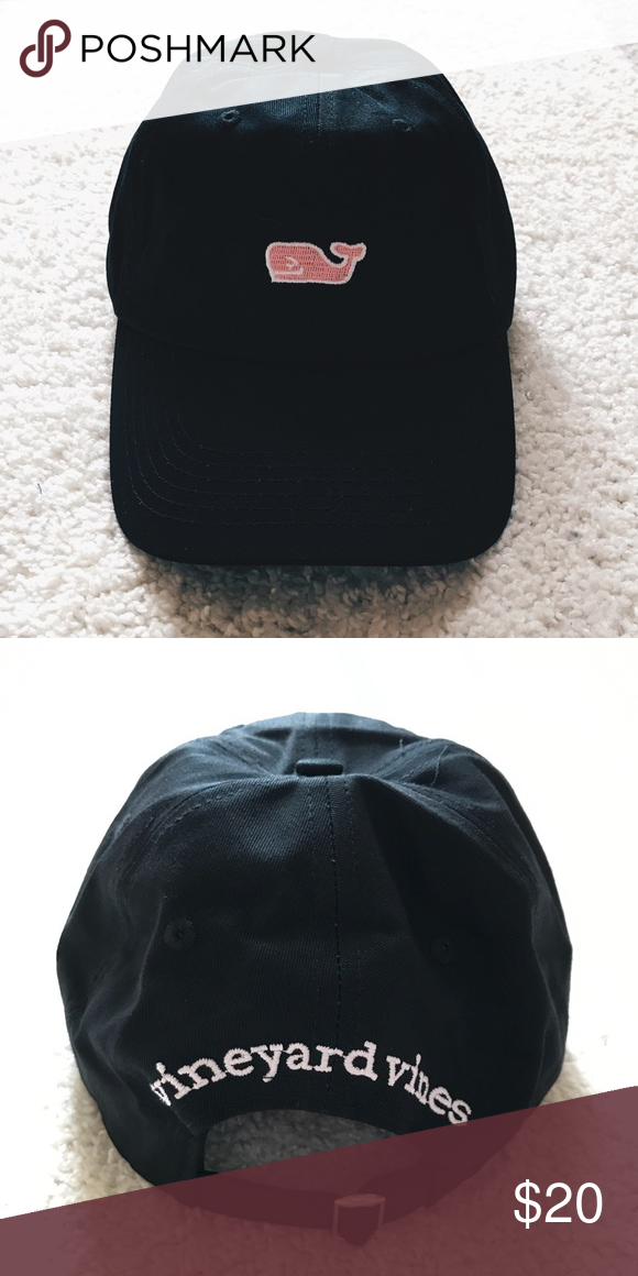 133b3007719 Black vineyard vines baseball cap hat Classic black vineyard vines hat.  Unisex   adult. Adjustable. Brand new without tags! I do not trade.