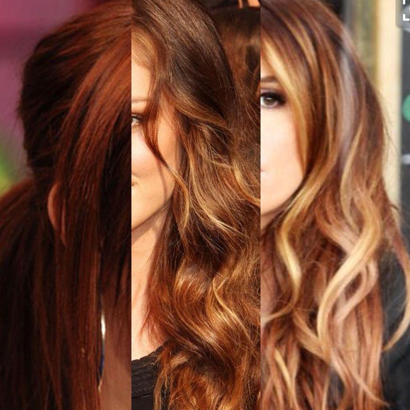 Shades Of Red Dark Auburn Underneath Light Auburn With Blonde
