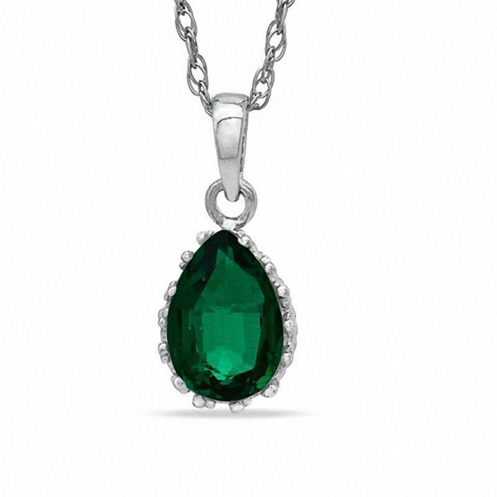 Zales Pear-Shaped Amethyst Crown Earrings in Sterling Silver 3g5jfdsAe