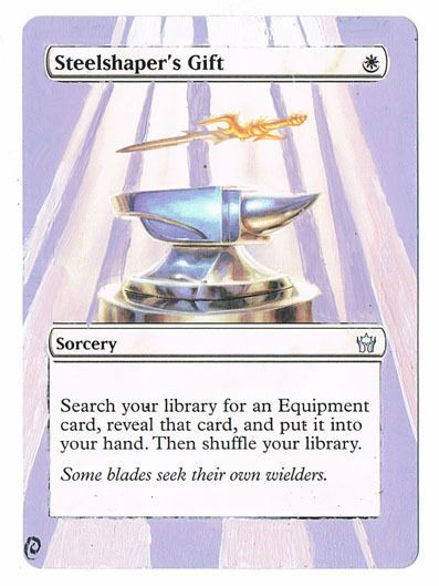 MTG Altered Painted Steelshaper's Gift Fifth Dawn FREE SHIPPING ...