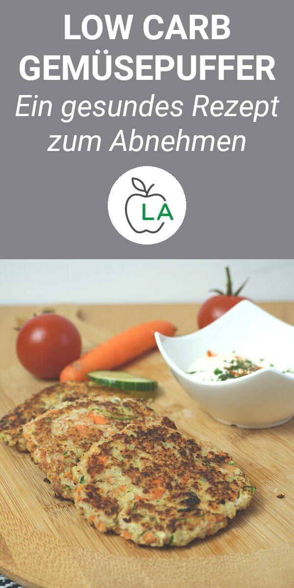 Low Carb Gemüsepuffer mit Dip - Rezept zum Abnehmen #lowcarbveggies