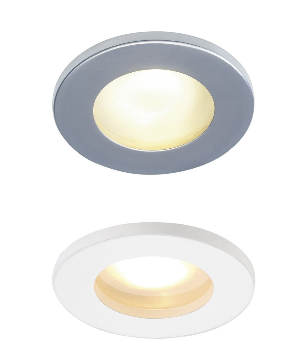 12v Ip65 Round Frosted Glass Downlight Silver Downlights Frosted Glass Glass