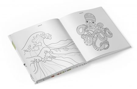 Pack Libro colorear Paisajes Naturales y 24 lápices colores ...